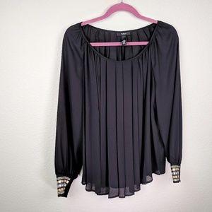 Alfani Sheer black scoop neckline top